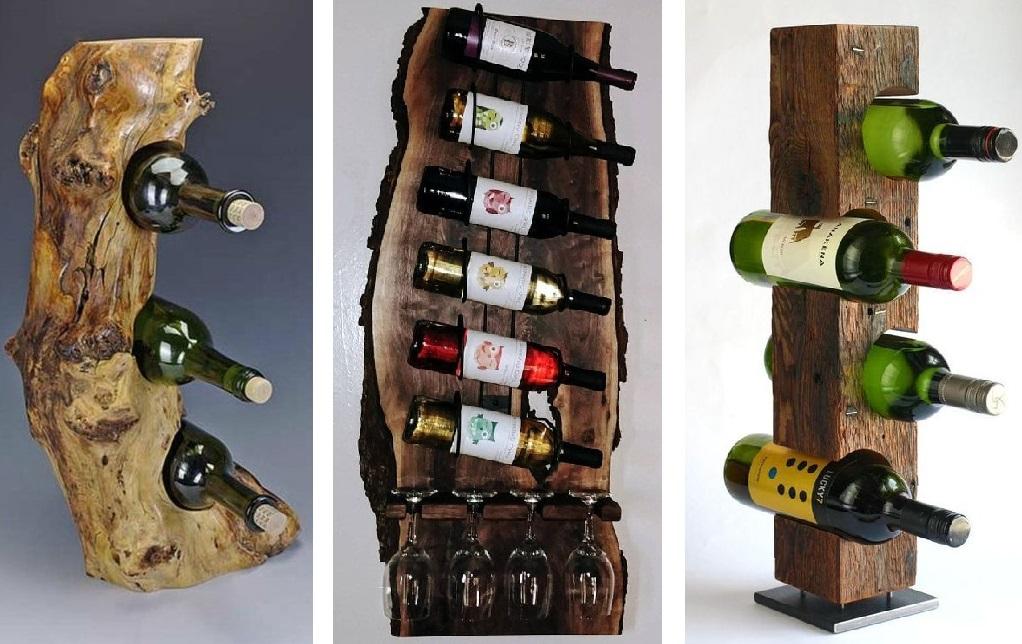 Шикарные стойки из древесины для настоящих ценителей хорошего вина