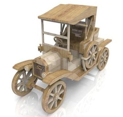 объемные игрушки, набираемые из плоских элементов. Элементы можно сразу подбирать из разных пород, с разным оттенком и фактурой древесины