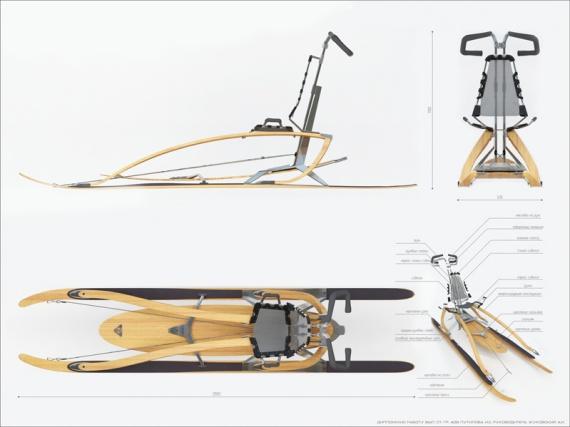 дизайнерские финские сани