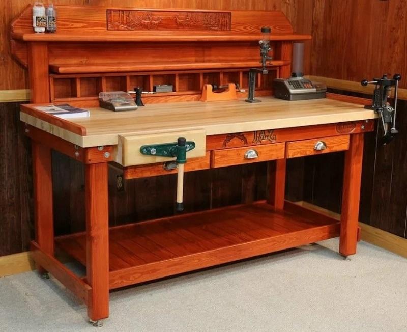 американский вариант пристенного столярного верстака стола - фото 1