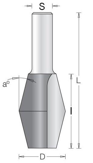 Фреза шпонка ласточкин хвост СЛЭБ DIMAR 1670019