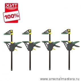 Комплект: Струбцина для зажима и распора EHZ PRO 100-915 4 шт  Wolfcraft 3034000-4 ХИТ!