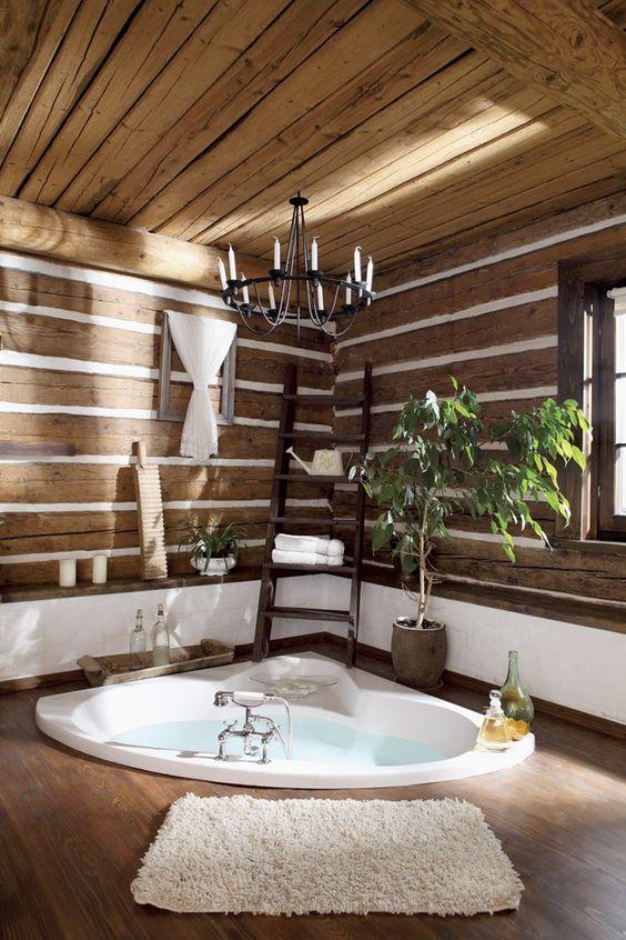 помывочной вполне уместно устроить ванну