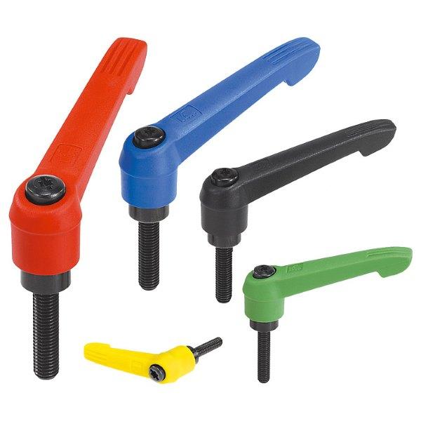 Рычаги зажимные с наружной резьбой и полимерной ручкой Novo Grip KIPP
