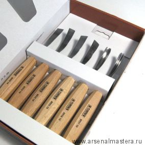 СНИЖЕНИЕ! Набор резцов 6 шт Narex Standart в картонной коробке 8947 10