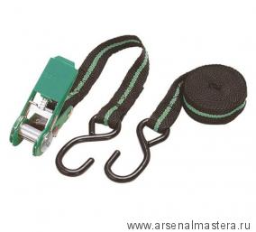 SALE! Крепежный ремень с храповым механизмом с КРЮЧКОМ (4м, 180кг) WOLFCRAFT 3442000