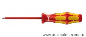 МИНУС 30% Отвертка диэлектрическая крестовая Phillips WERA Kraftform Plus 162 i VDE, PH 3 / 150 мм, 006156