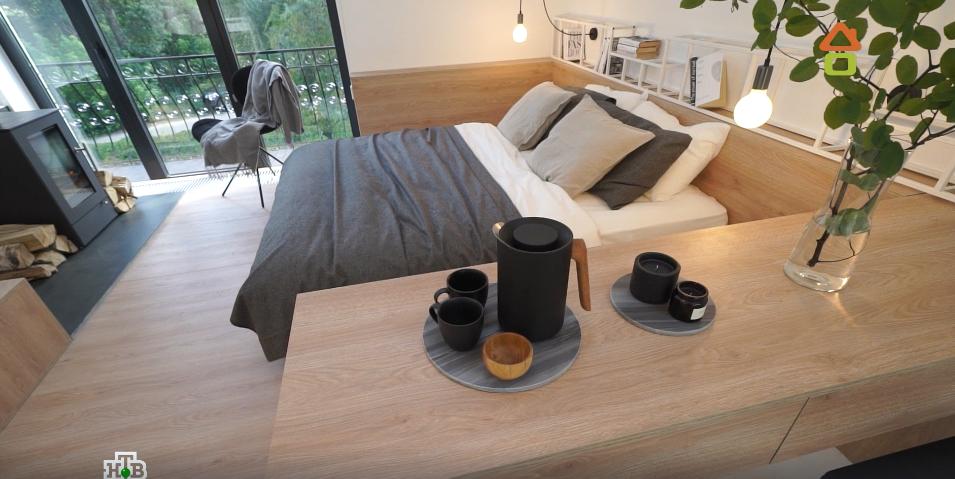 Переделка спальни с подиумом для кровати