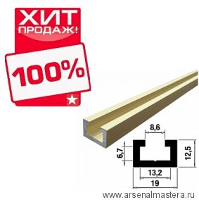 ХИТ! Шина-направляющая T-track 1,5м  (профиль-шина) 19 мм анодированная золото матовое TR019.GM.1500