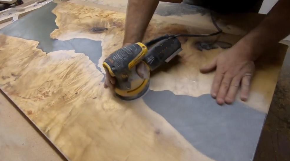 Шлифование поверхности слеба пример