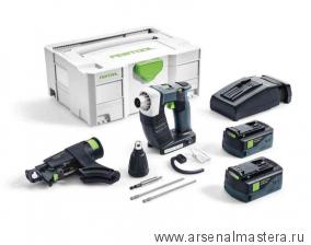 АдекВАТТно 18В: Аккумуляторный шуруповёрт для гипсокартона FESTOOL DWC 18-4500 Li 5,2-Plus в контейнере T-Loc ПЛЮС ПОДАРОК АККУМУЛЯТОР