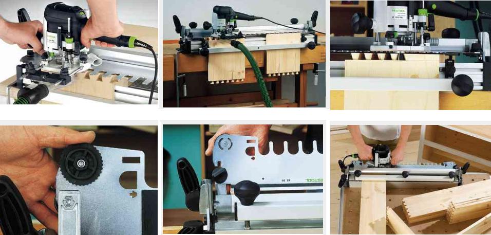 Шипорезная система VS 600 позволяет быстро и просто выполнять высокоточные полупотайные и открытые шиповые соединения «ласточкин хвост