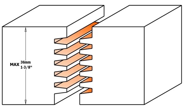CMT 900.606.11 Фреза концевая сращивания для клеевых соединений