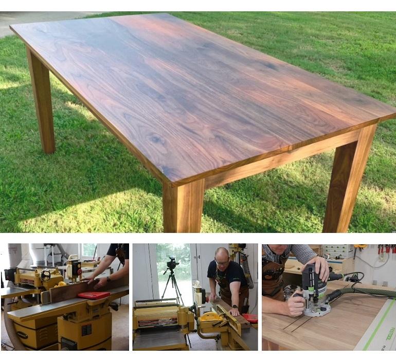 опытом - изготовлением Обеденного стола из орехового дерева