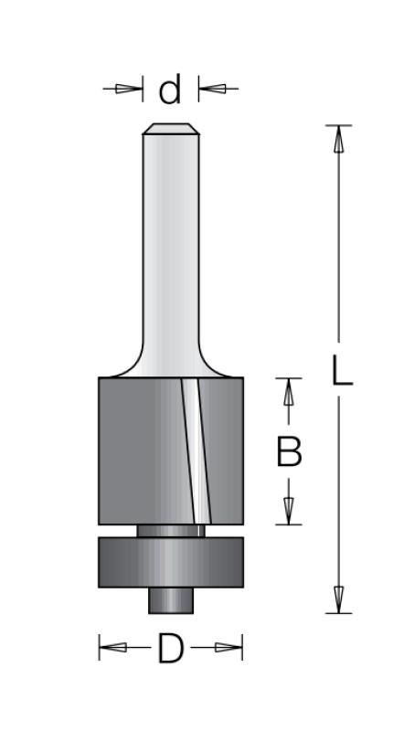 Концевая обгонная фреза с наклонной режущей кромкой DIMAR