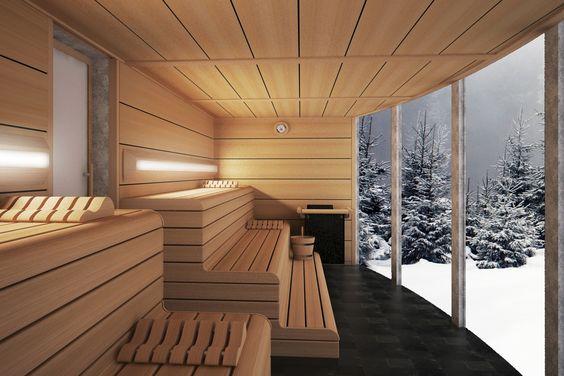 сочетание естественного света с искусственным в бане