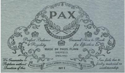 английские обушковые пилы PAX