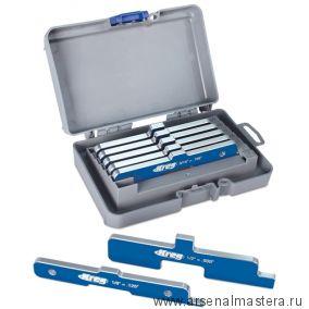 Комплект шаблонов алюминиевых Kreg 7 шт в пластиковом боксе для фрезерного стола циркулярной пилы Kreg PRS3400