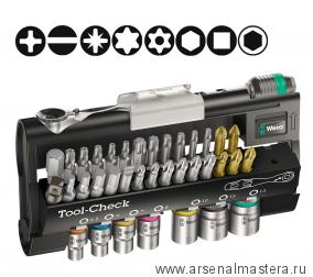 Набор бит с трещоткой WERA Tool-Check 1 SB, 38 предметов 073220