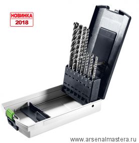 Комплект буров для перфораторов с патроном SDS-Plus FESTOOL SDS-Set D5-D12/7. Новинка 2018 года!