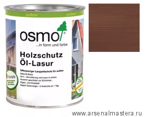 Защитное масло-лазурь для древесины для наружных работ OSMO 727 Holzschutz Ol-Lasur Полисандр 0,125 л