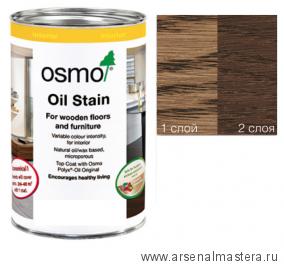 Цветные бейцы на масляной основе для тонирования деревянных полов Osmo Ol-Beize 3564 Табак 2,5 л