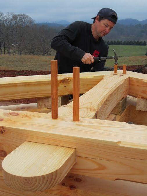 Нагель используется в качестве фиксирующего элемента в деревянном домостроении