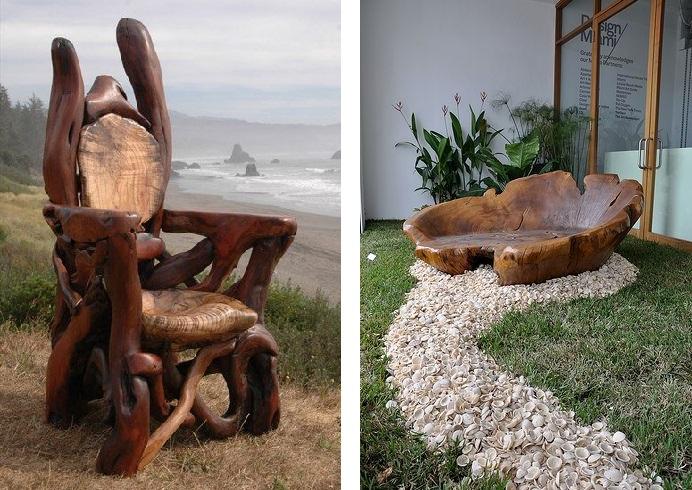 мебель цельных кусков дерева 2019 примеры