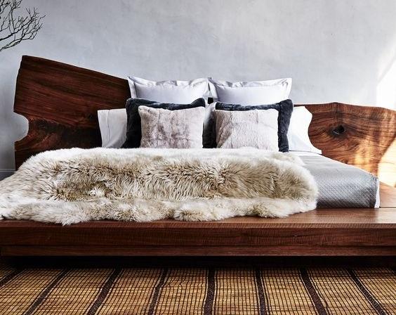 SLAB BED кровать из цельного дерева из слэба
