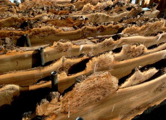 На фото склад слебов дерева готовых к продаже