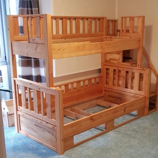 В рамках немецкой программы Festool Fanprojekt Мы расскажем Вам об изделии немецкого мастера Себастьяна - двухуровневой детской кровати.