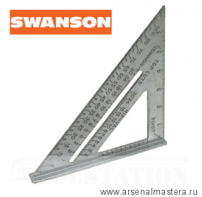 Угольник Swanson Speed Square 7/177 мм (шкала в дюймах) T0101 М00004470