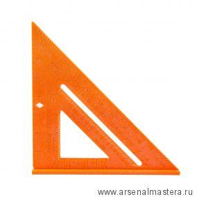 Угольник Swanson Speedlite Square 8/200 мм (шкала в дюймах) Пластик Оранжевый T0118