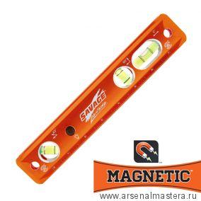 Уровень магнитный алюминевый дюймовый типа Торпедо с подсветкой 9/220мм Swanson Savage Lightning Aluminum Torpedo Magnetic Luminated TLL049M