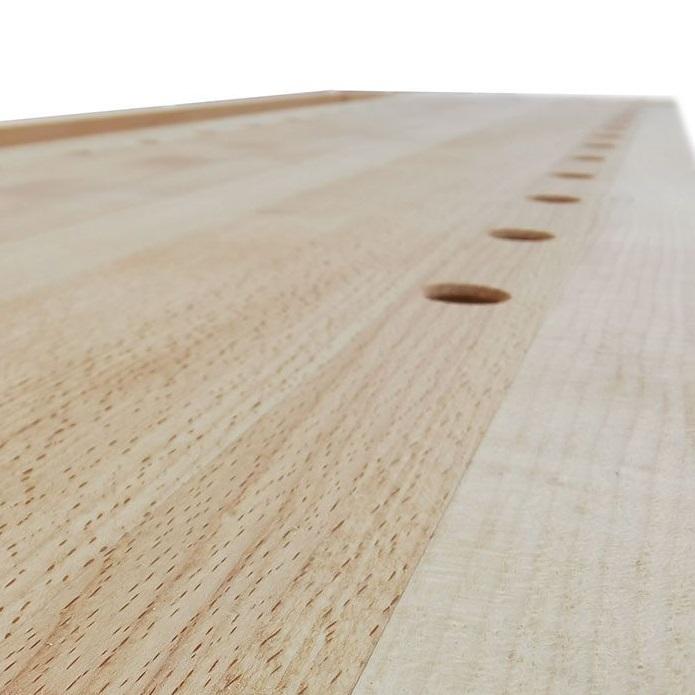 фото Верстак деревянный 2000 х 600 мм с лотком ПТ - Г-образные HV511 БТ - коробка HV519 М00016600