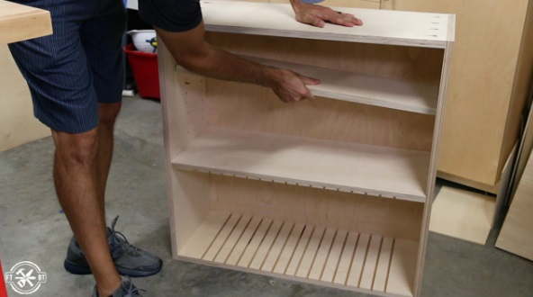 настенные шкафы с 5 вариантами хранения с  Kreg Jig