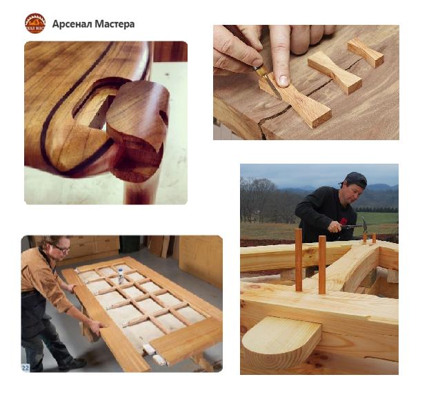 фото и идеи на тему Столярных и Плотницких соединений, используемых в изделиях из древесины