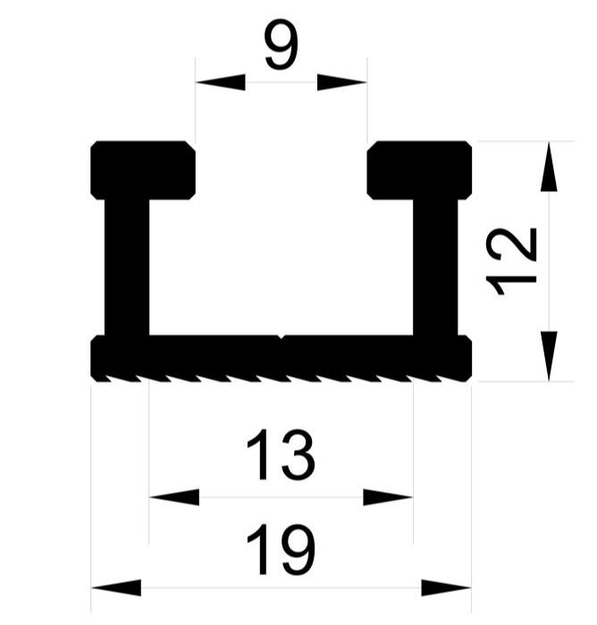 Шина-направляющая T-track