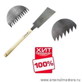 Пила безобушковая Shogun Ryoba Premium Rip / Cross 240 мм деревянная рукоять MCS-24 М00016317 ХИТ!