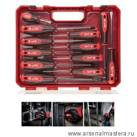 Набор отверток магнитных  12 шт с трехгранной рукояткой в кейсе MILWAUKEE 4932472003