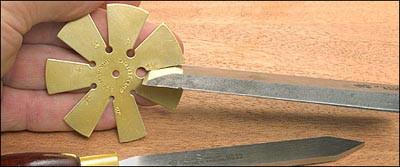 Шаблоны углов для заточки ножей