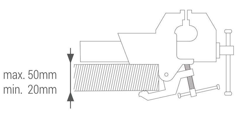 Тиски столярные  Piher со струбциной