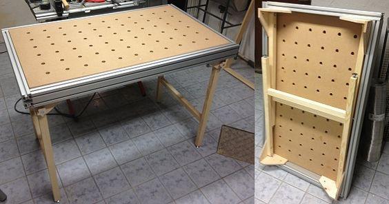 А это самодельное исполнение стола MFT 3 со станочными профилями и основанием из деревянных брусков: