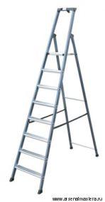 АКЦИЯ! Односторонняя алюминиевая анодированная лестница - стремянка Krause SEPRO S, 8 ступеней