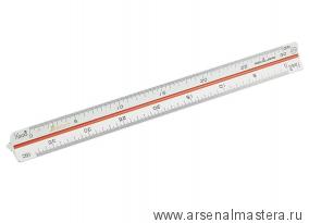 Линейка треугольная масштабная Shinwa 150мм (белая) М00013241 Sh 74969