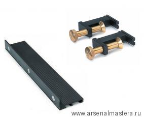 КОМПЛЕКТ: Стусло Veritas Magnetic Saw Guide магнитное 14д (355 мм) ПЛЮС 2 шт. Прижимы для стусло