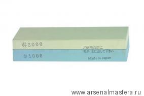 Заточной абразив японский комбинированный 1000/3000 134х40х26мм Suehiro М00000605