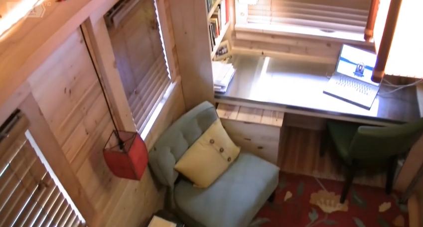 Деревянный Фургон дом на колесах 1