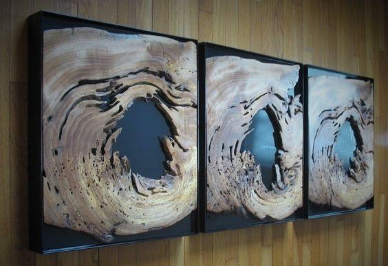 Красивая полка из слэбв изготовлена вручную из дерева акации