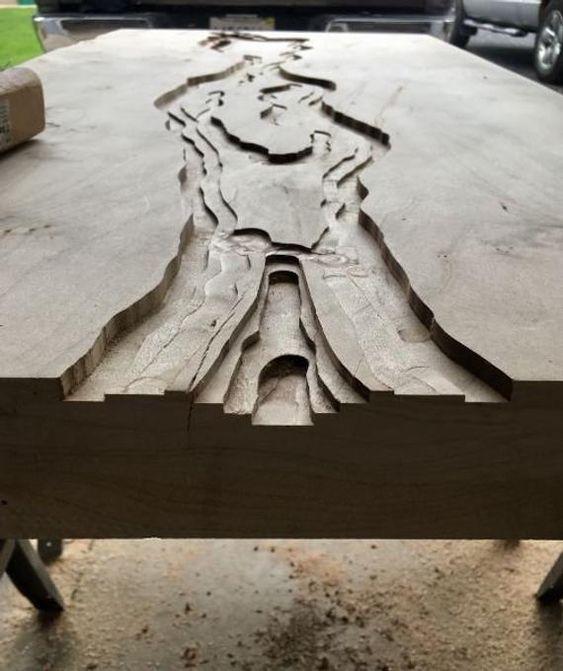 Столешницы из слэба фрезерование